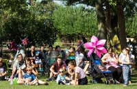 A photo of the crowds at the Alice in Wonderland Event