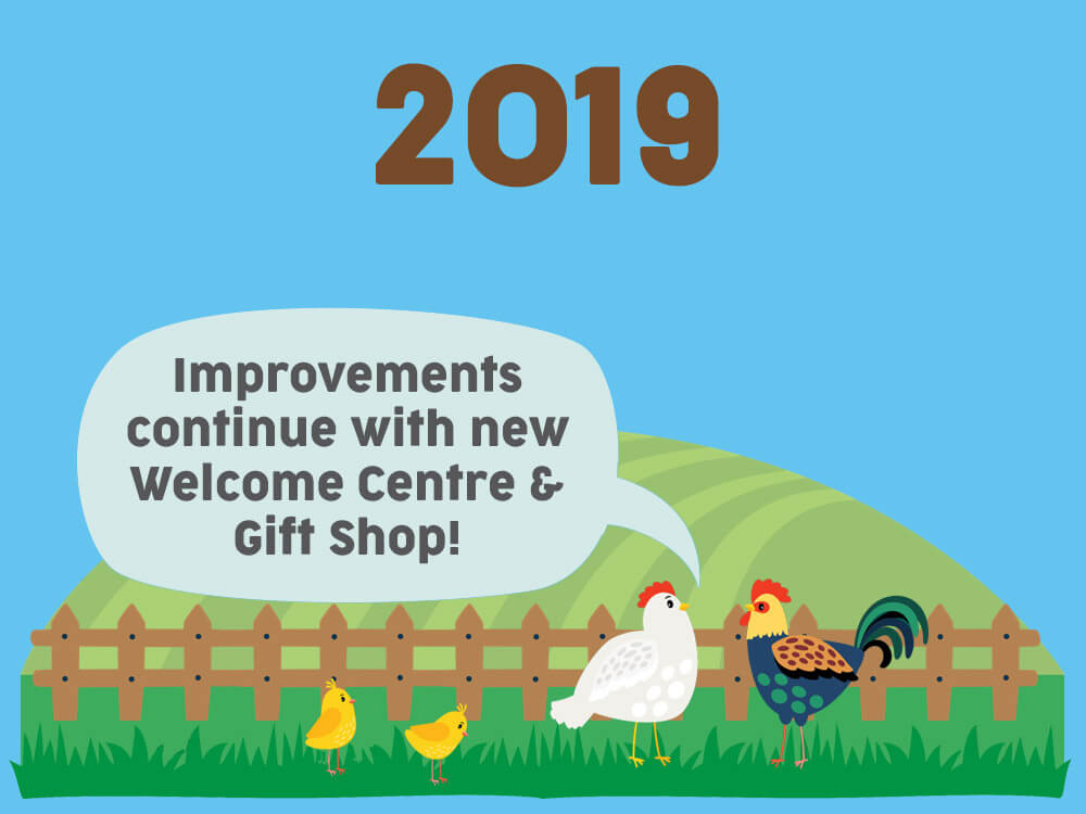 2019 - Improvements continue with new welcome centre & gift shop