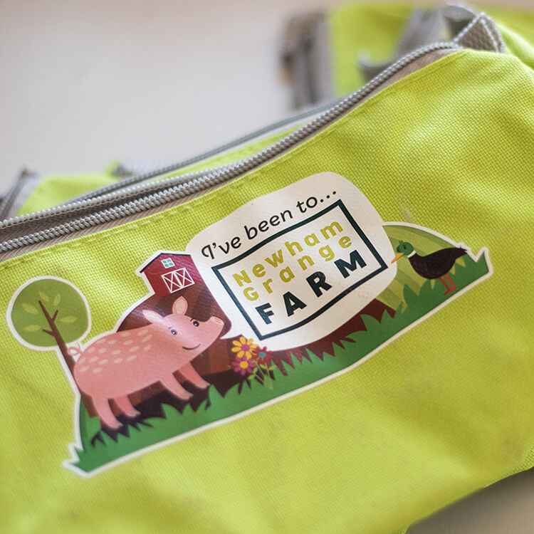 An image of a Newham Grange Farm themed pencil case