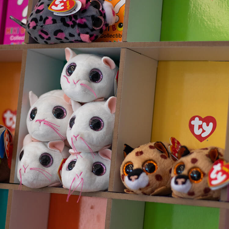 Soft toys at the Newham Grange shop